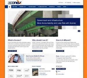Aconex website home page