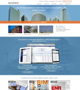 Aconex website home 2014